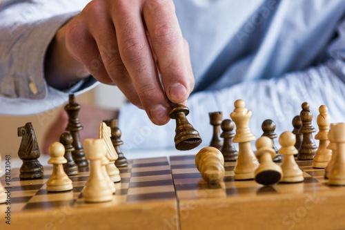 Photographie  Jeu d'échecs