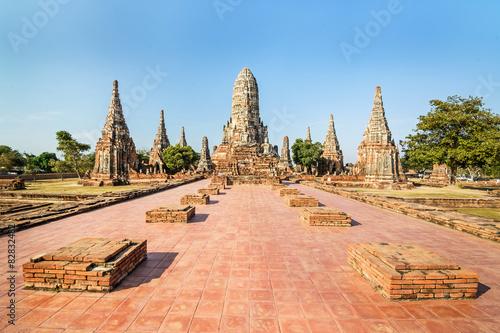 Photo Old Temple, Wat Chaiwatthanaram Temple of Ayuthaya Province ( Ay