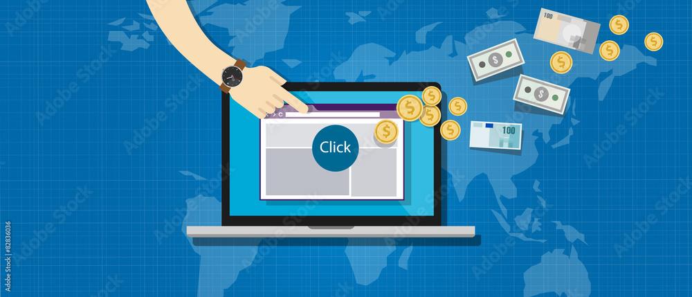 Fototapeta affiliation affiliate marketing pay per click