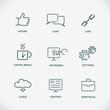 Modern line SEO icons, set of seo service symbols, website
