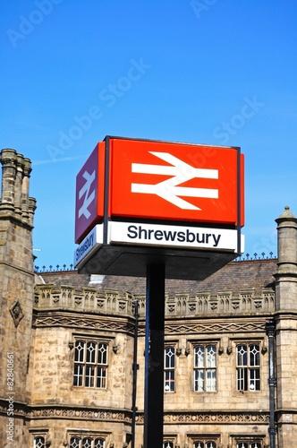 Papiers peints Gares Shrewsbury Railway Station Sign.