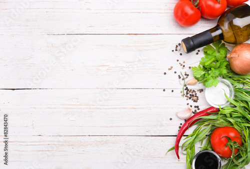Stampa su Tela : The concept of cooking. Background.