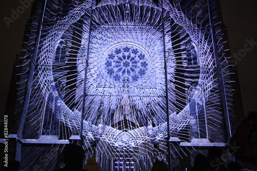 Photo  Projection mapping at St Ludmila Church in Prague