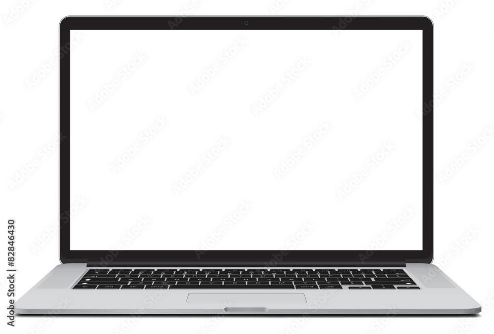 Fototapeta Vector illustration of laptop isolated on white background