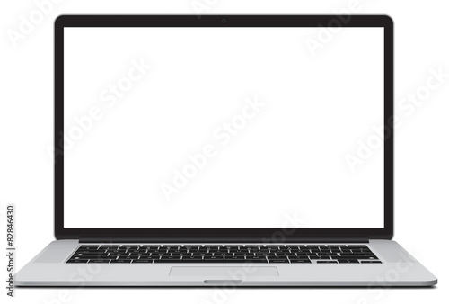 Fotografía  Vector illustration of laptop isolated on white background