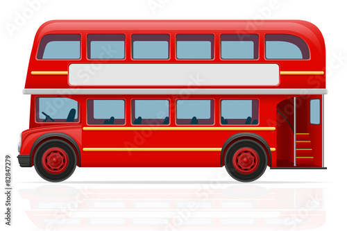 Canvas Print london red bus vector illustration