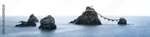 Fototapeta premium Meoto iwa Felsen w Ise w Japonii