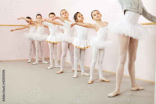 Ballet class in dance studio Canvas Print