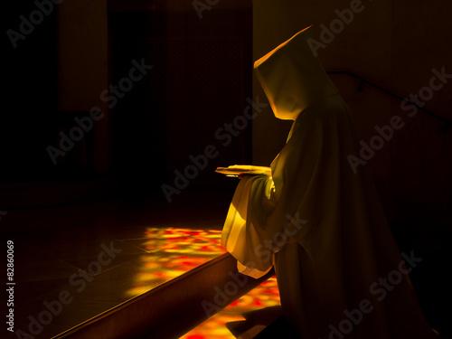 Fotografia, Obraz  Moine en prière