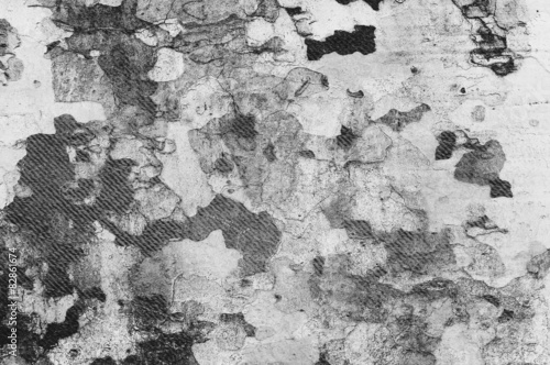 Aluminium Prints Old dirty textured wall black and white background