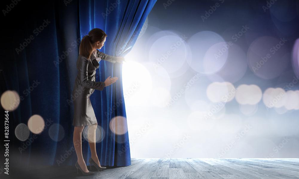 Photo  Opened curtain
