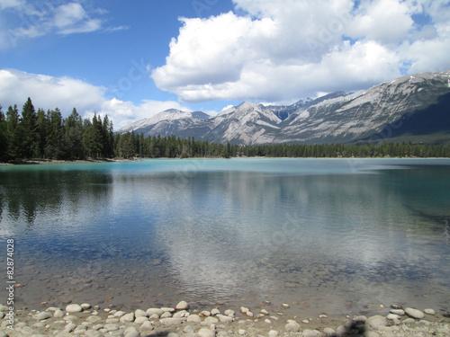 The beautiful natural lake scenery