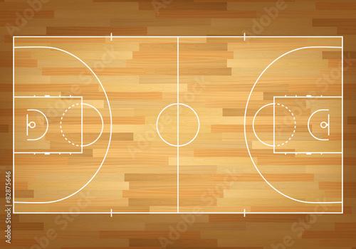 Obraz Basketball court on top. - fototapety do salonu