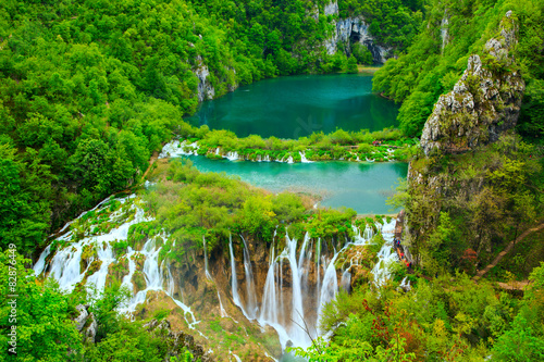 Fotografie, Obraz Waterfalls in Plitvice National Park