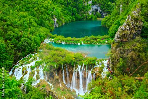 Waterfalls in Plitvice National Park - 82876449