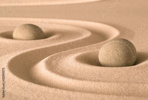 Foto op Plexiglas Stenen in het Zand zen spirituality garden