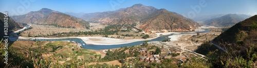 Photo Tamakoshi Nadi river in Nepalese himalayas