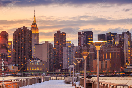 New York City with skyscrapers