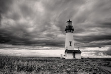 B&W Of Lighthouse In Newport, ...