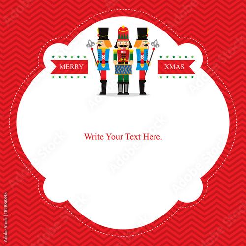 Fotografía  Christmas Card with Nut Cracker
