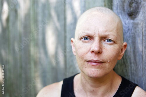 Fotografie, Obraz  Portrait of a female cancer patient outside