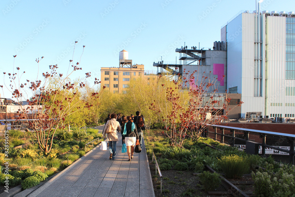 Fototapety, obrazy: New York City / High Line Walkway