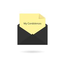 Black Envelope With My Condole...