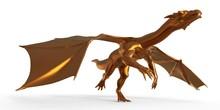 Fantasy Golden Dragon