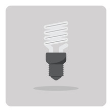 Vector Of Flat Icon, Light Bulb On Isolated Background