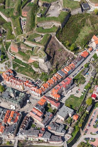 Fotografie, Obraz  aerial view of  the Klodzko city historic fortress