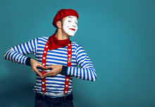 Mime In Red Beret Smiles