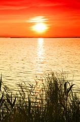 Panel Szklany Romantyczny amanecer en el mar