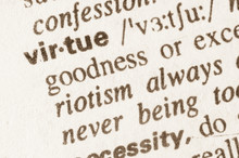 Dictionary Definition Of Word Virtue