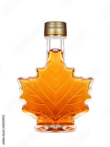 Maple Syrup Bottle Isolated On A White Background © gdvcom