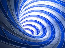 Abstract Wired Blue Vortex Background