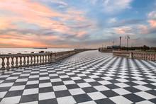 Promenade Of Livorno, Tuscany,...