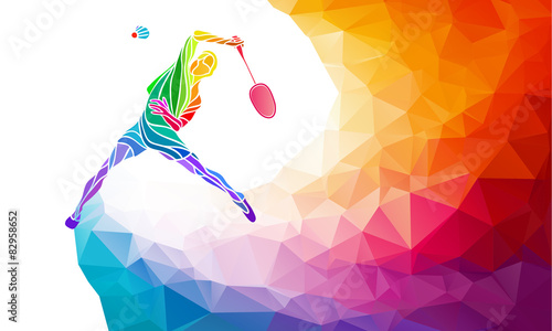 Obrazy Badminton   badminton-sport-invitation-poster-or-flyer-background-with-empty