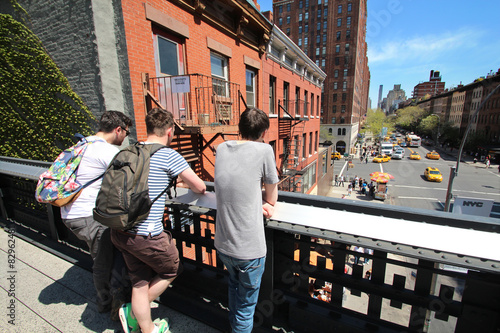 Poster  New York City / Chelsea vom High Line Walkway