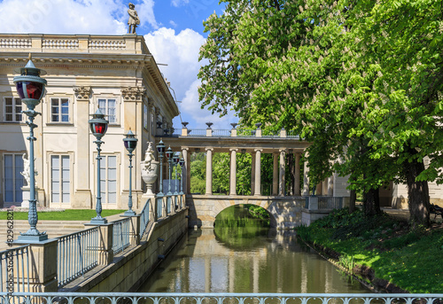 Lazienki Park in Warsaw, details of the Palace on the Water - 82962821