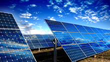 Solar Panels Modules And Blue ...