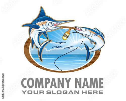 Photo  fishing marlin logo image vector