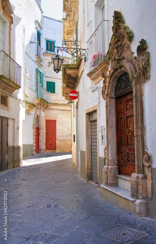 Foto op Plexiglas Cyprus Alleyway. Martina Franca. Puglia. Italy.