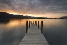 Wooden Jetty On Derwent Water ...