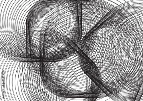 Fotografie, Obraz  spirale nera