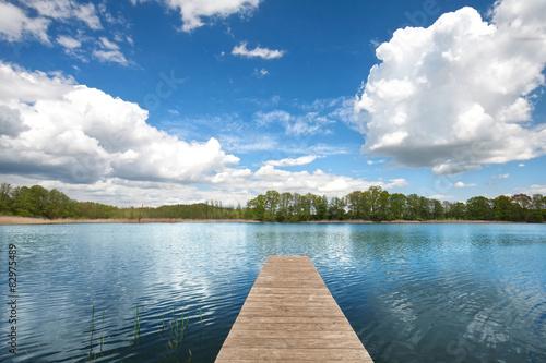 Fototapeta Jezioro sommerwolken-am-see