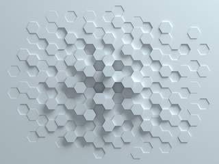 Fototapeta hexagonal abstract 3d background