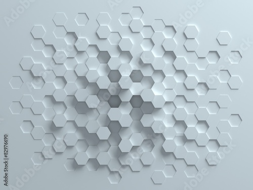 Photo  hexagonal abstract 3d background