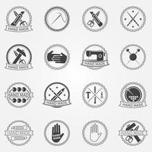 Handmade Vector Badges Or Labels