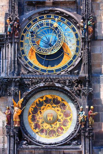 Staande foto Praag Famous astronomical clock Orloj in Prague