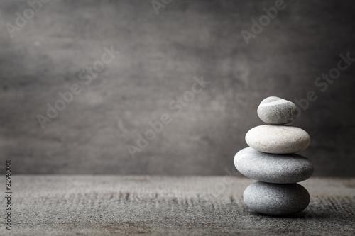 Foto op Plexiglas Stenen in het Zand Spa stones.